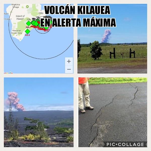 FUERTE SISMO EN HAWAI PROVOCA EXPlOSION EN EL VOLCÁN KILAUEA.