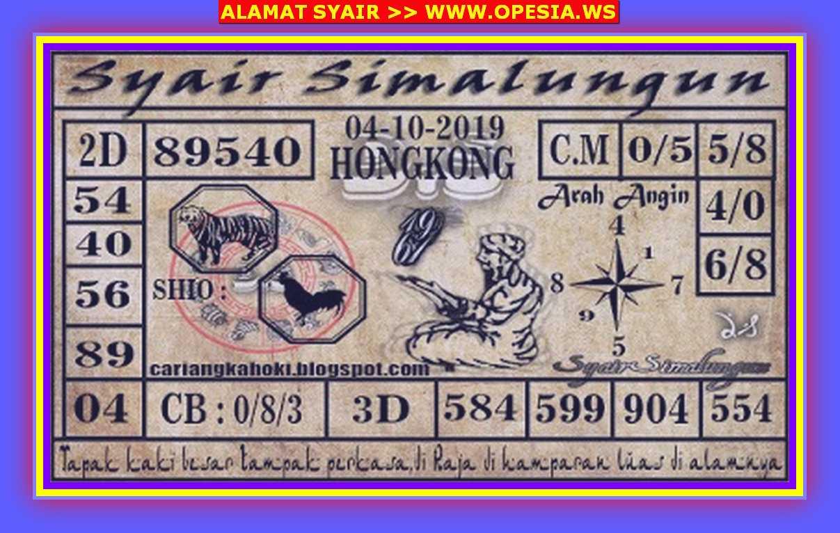 Kode syair Hongkong Jumat 4 Oktober 2019 69