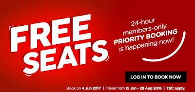 AirAsia Free Seats 2018 Promo