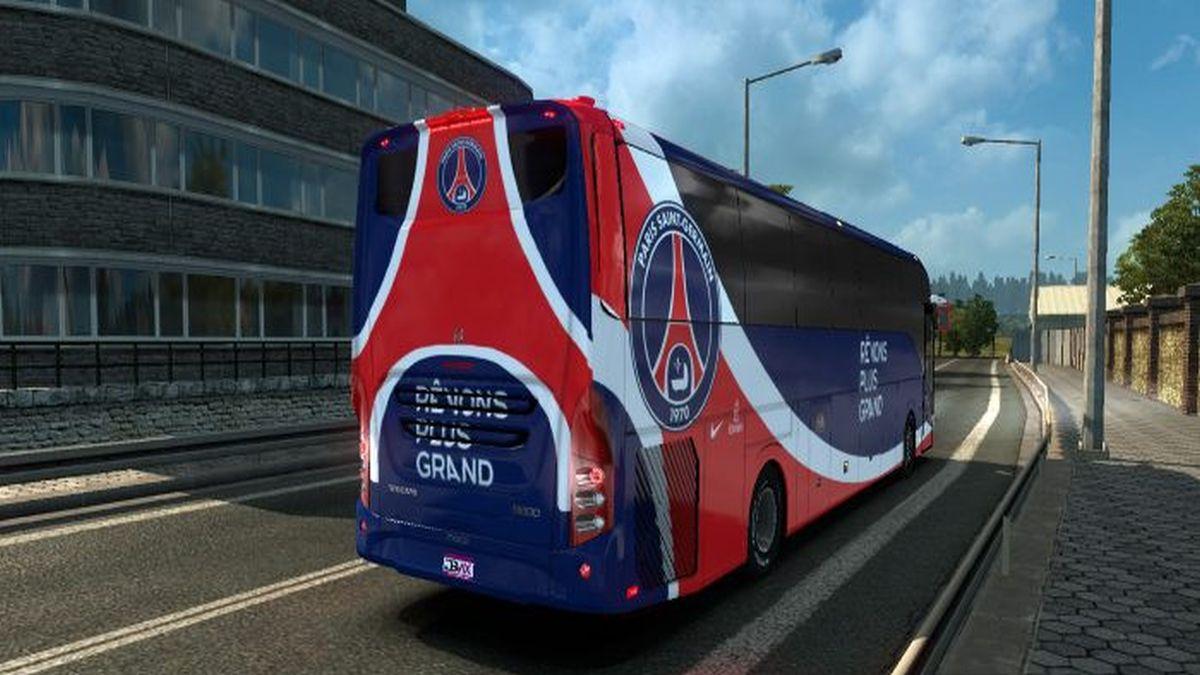 Paris Saint-Germain Skin Volvo 9800 Bus