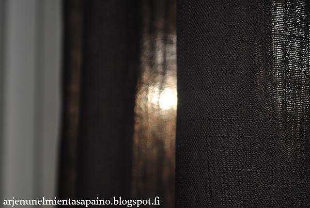 verhot, olohuone, ruskea, pitkät