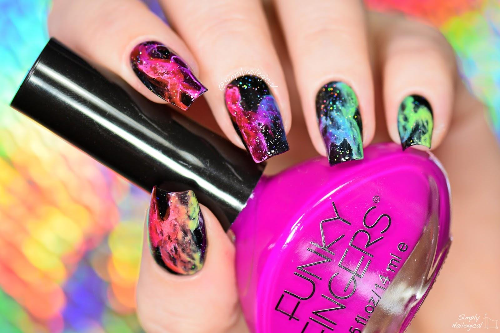 Simply Nailogical Rainbow Smoke Nails Mani Swap With Elleandish