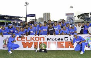 India wins Tri Nation series