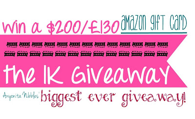 Be $200 richer! Win an Amazon Gift Card from www.anyonita-nibbles.com