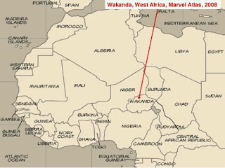Black panther's wakanda location in africa