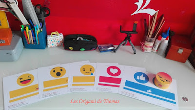 boite ronde en papier en forme de smiley réaction faceboo