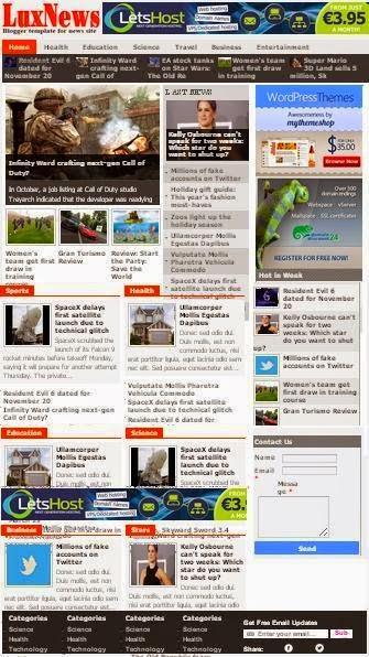 Dowload Lux news Template Blogspot & hướng dẫn cài đặt