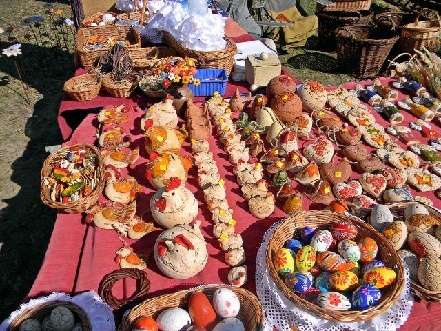 rękodzieło, glina, jaja, skansen, koszyki