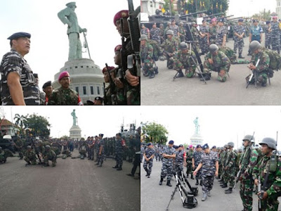 Wuih .. Mantap KASAL Langsung Pimpin Apel Gelar Kesiapan Latihan Armada Jaya - Commando