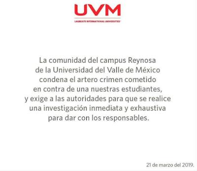 Mariana Reséndez alumna de la UVM una de las ejecutadas en Reynosa