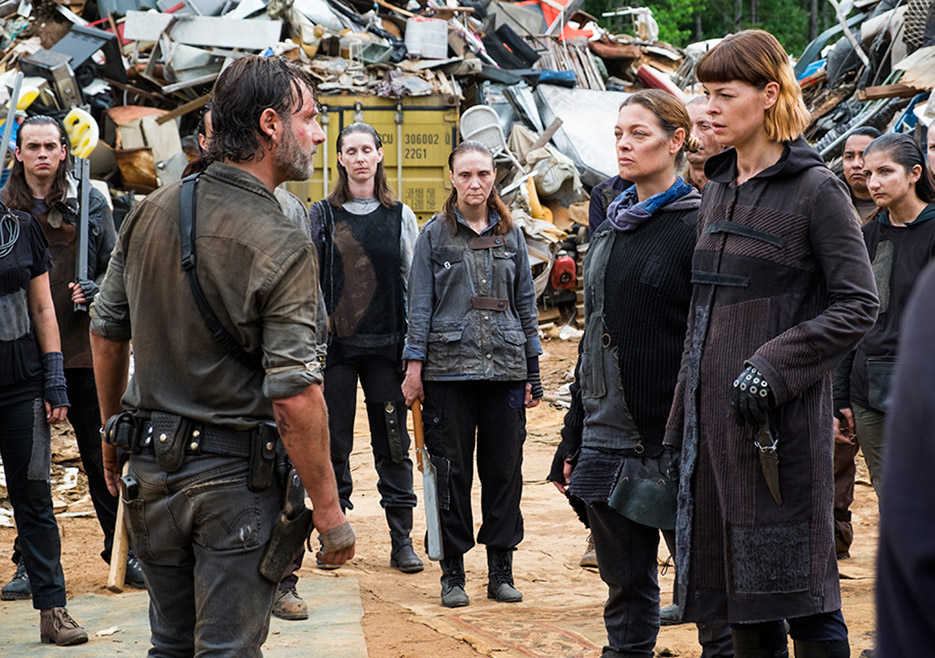 Rick y JAdis en el episodio 8x06 The King, the Widow and Rick de The Walking Dead