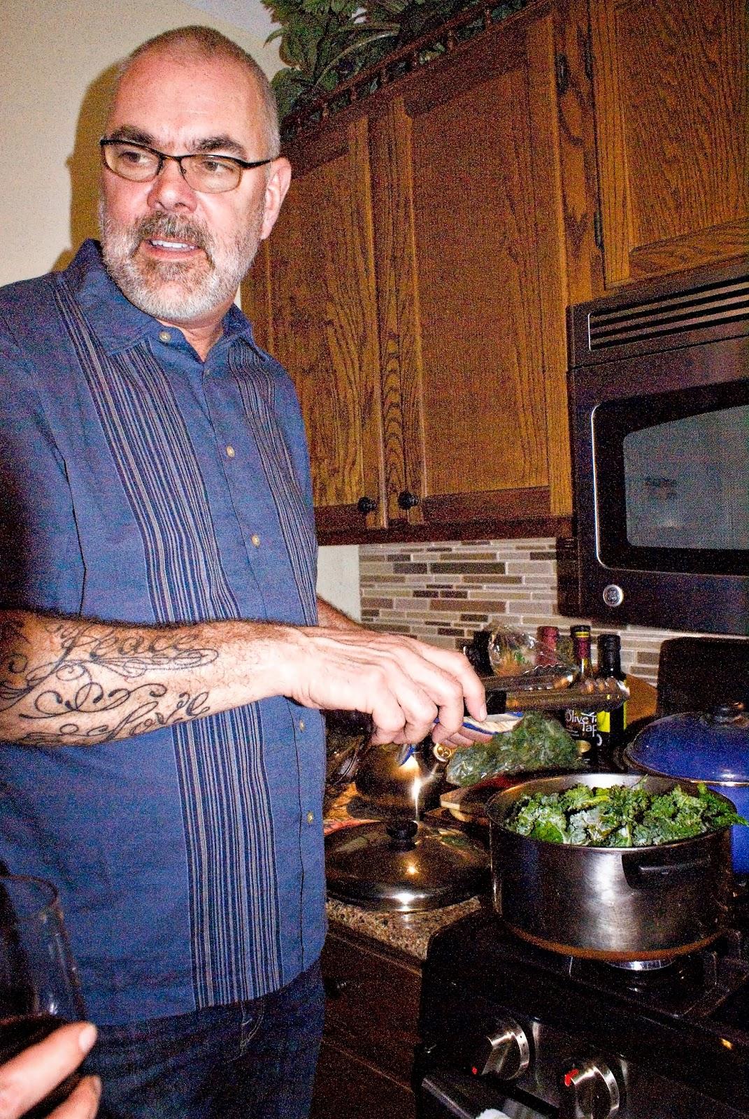 John Holm cooking