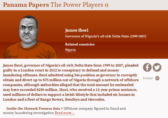 Report reveals alleged hidden assets of James Ibori in Panama