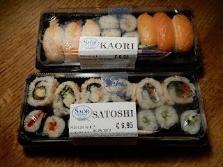 ピサのスーパーで購入した寿司