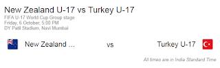 New Zealand U17 vs Turkey U17 match Fifa 2017