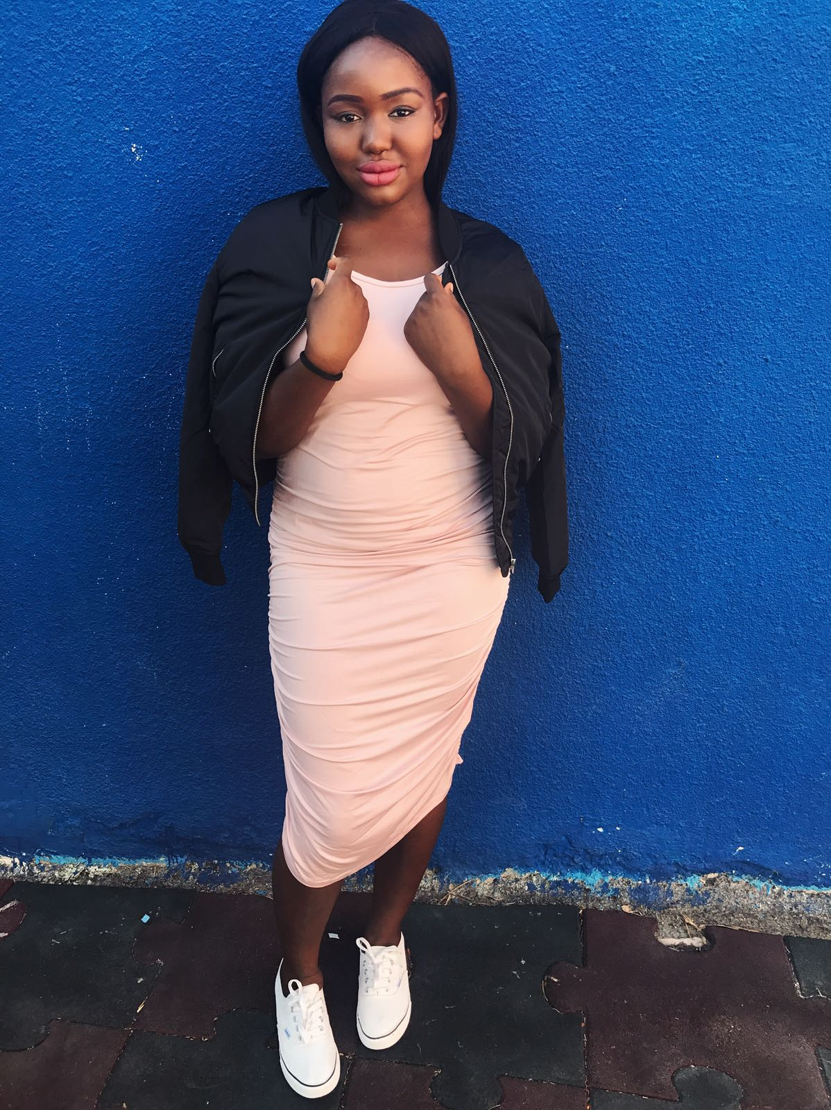 fashion mia nude bodycon midi dress dateswithdanie
