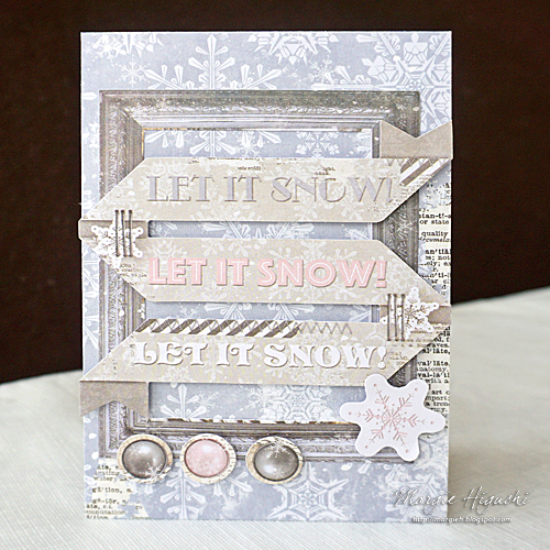 Scrapbook Adhesives by 3L & Bo Bunny Blog Hop - Day 2: Let It Snow Hot Cocoa Pocket Card Tutorial