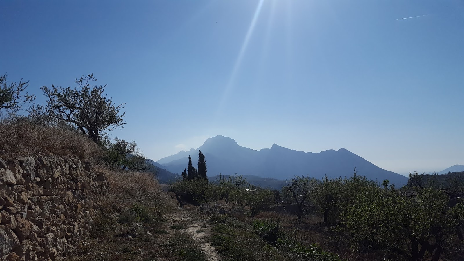 Sierra de Bernia from la Panavista, Tàrbena, Alicante