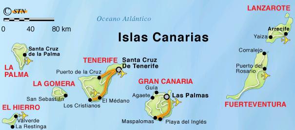 Cartina Delle Canarie.La Spagna Lessons Tes Teach