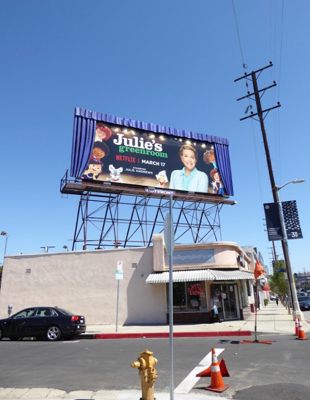 Julies Greenroom special curtains billboard