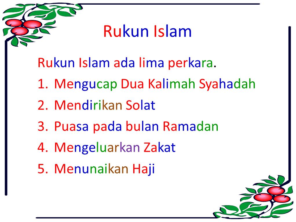 Ombak Kehidupan Rukun iman Rukun Islam dan Rukun Solat