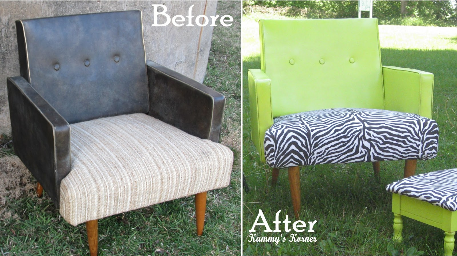 Spray Painted Vinyl Zebra Chair