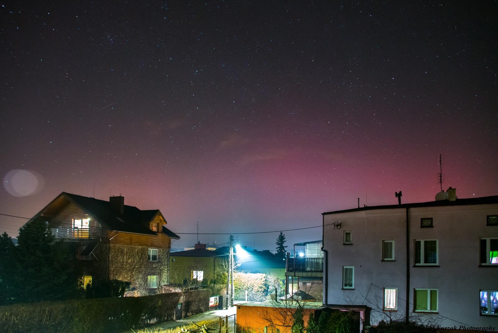 Zorza polarna sfotografowana 06.03.2016 r. - Credits:  Michał Kurzak - Zawiercie, śląskie