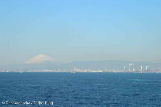 富士山と東京湾