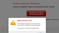 "Aggiornare il ""Plugin Java"" porta al download di virus"
