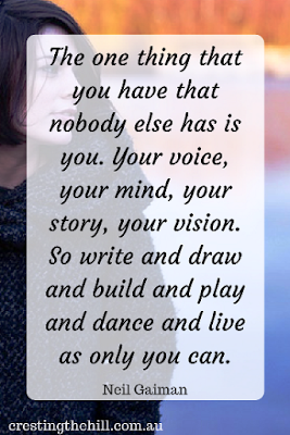 You have a voice, a mind, a story and a vision