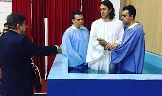 batismo do goleiro cassio