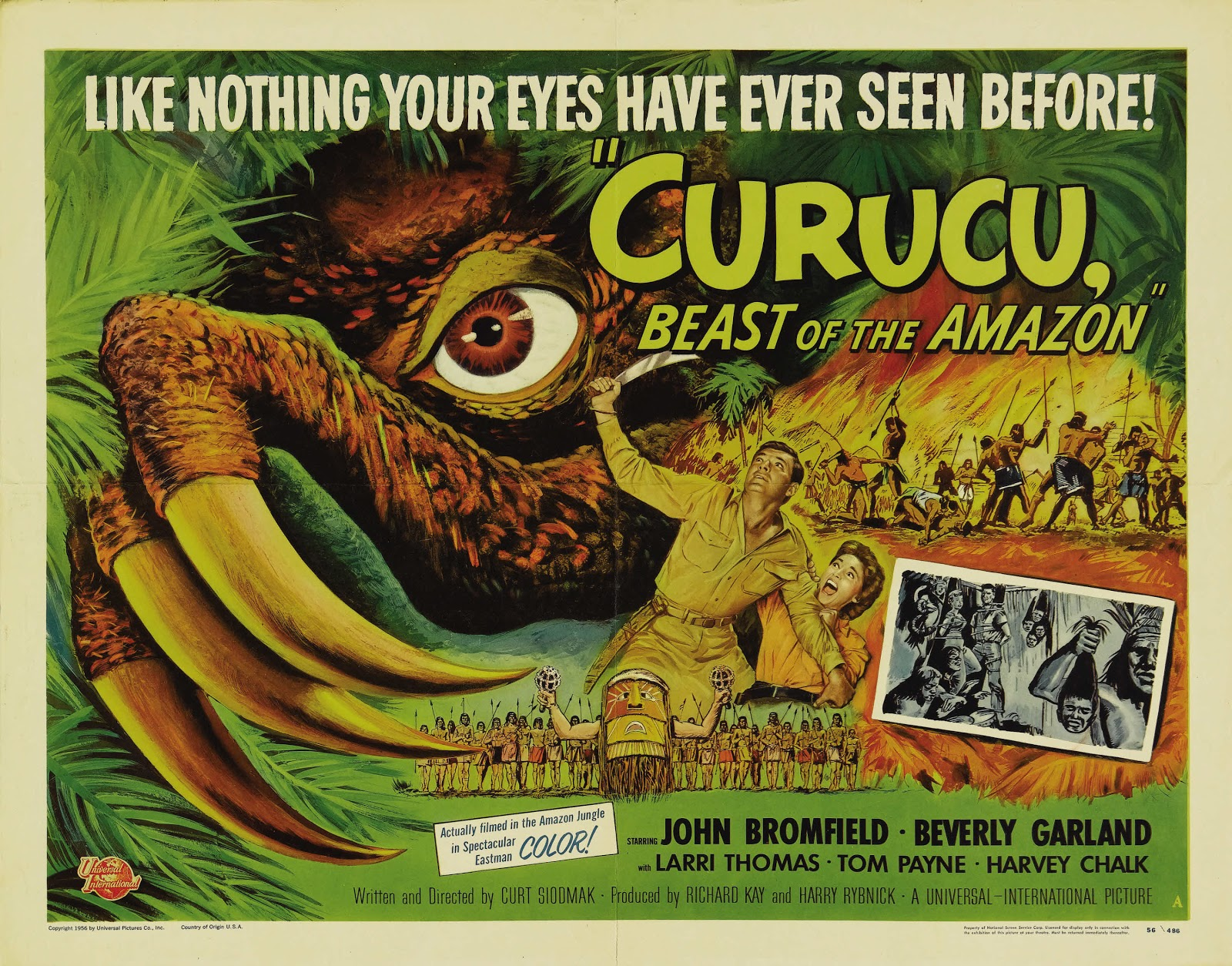 GREAT OLD MOVIES: CURUCU, BEAST OF THE AMAZON