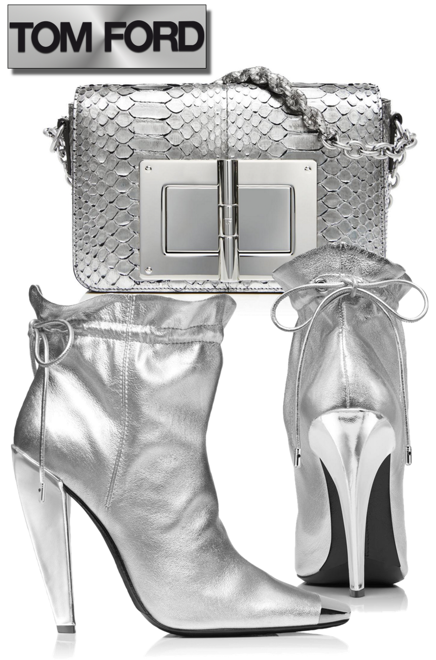 TOM FORD METALLIC COULISSE ANKLE BOOT