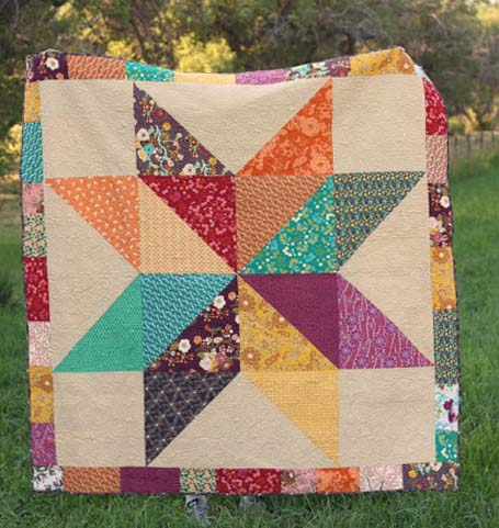 Giant Indie Star Quilt from Diary of a Quilter