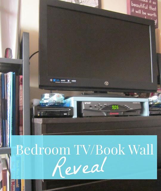 IKEA Bedroom TV Book Wall