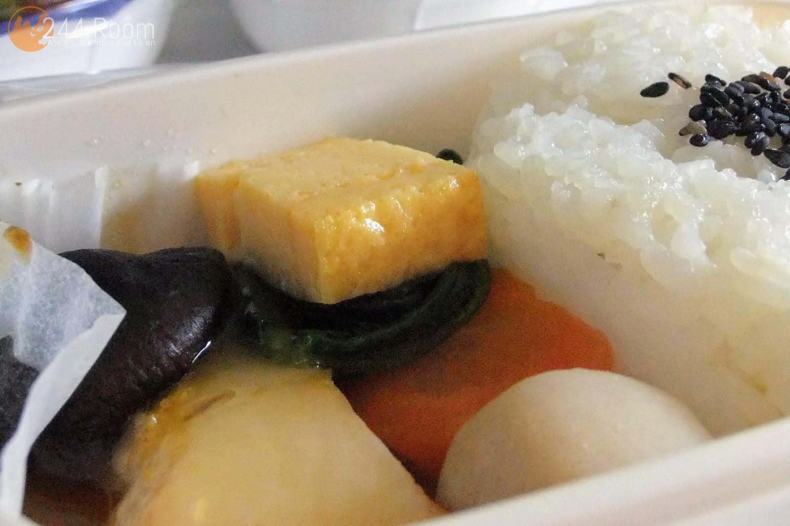 JAL Flight 002 meal 機内食2