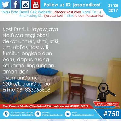 Kost Putri Jayawijaya Malang #313