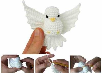 Paloma de la paz amigurumi a crochet