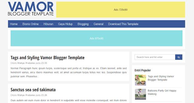 Vamor, Free Responsive Blogger Template