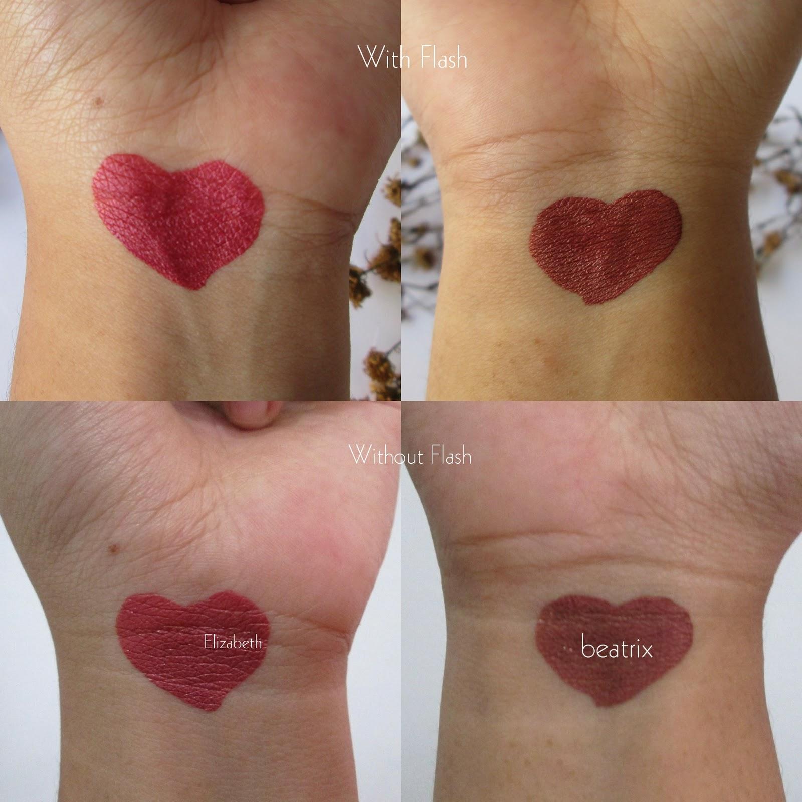 Zoya Lip Paint Metallic Series Elizabeth Dan Beatrix Review Swatch Diatas