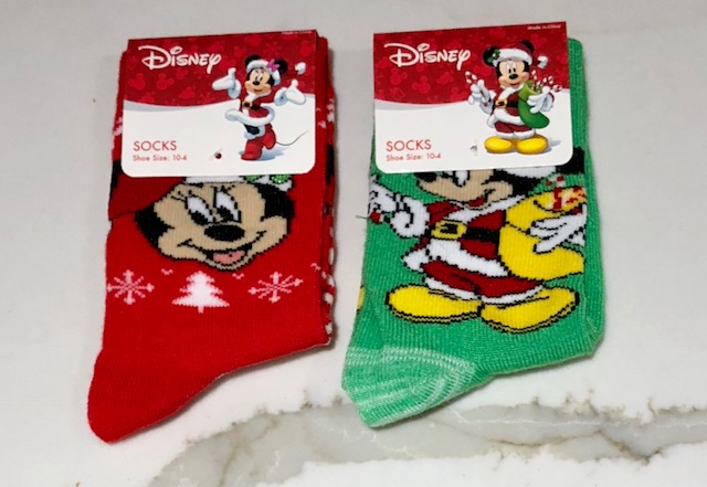 Minnie and MIckey Christmas socks
