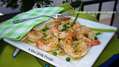 Shrimp with Green Sauce