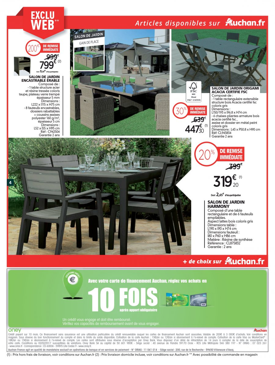 Table De Jardin Auchan. Auchan Table De Jardin Nouveau Table Salon ...