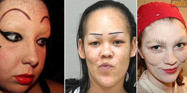 10 photos de femmes qui ont complètement bousillé leur visage avec d'affreux sourcils! La 5 est juste HORRIBLE !