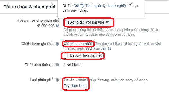 Tối Ưu Hóa Trong Quảng Cáo Facebook (Optimising) 2