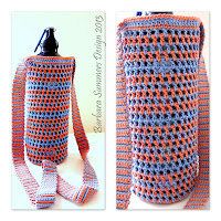 how to crochet, water bottle carrier, bag, pouch,