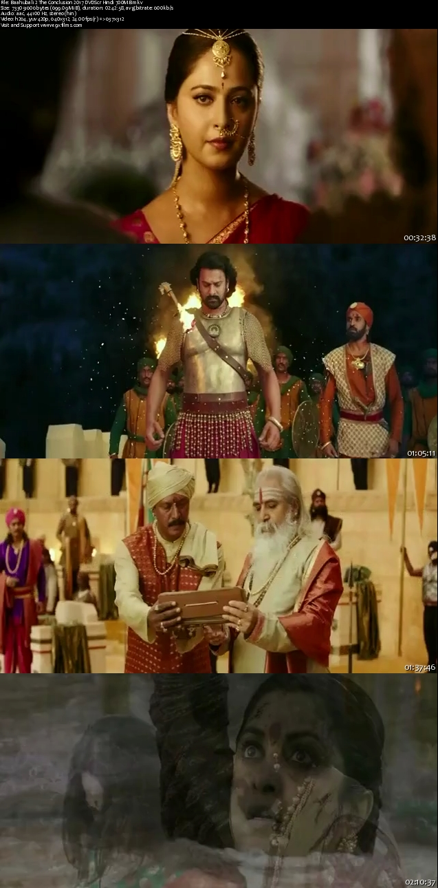 Baahubali 2 The Conclusion 2017 DVDScr Hindi 700MB
