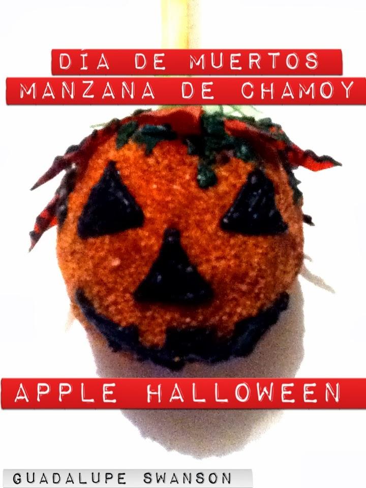 Manzanas cubiertas de Chamoy con decoración de Calabaza ...