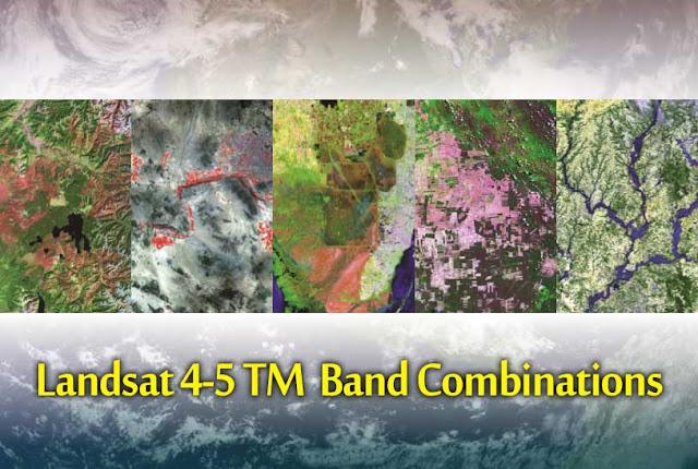 Band combination for Landsat 4-5 TM   Band Combination for Landsat 8