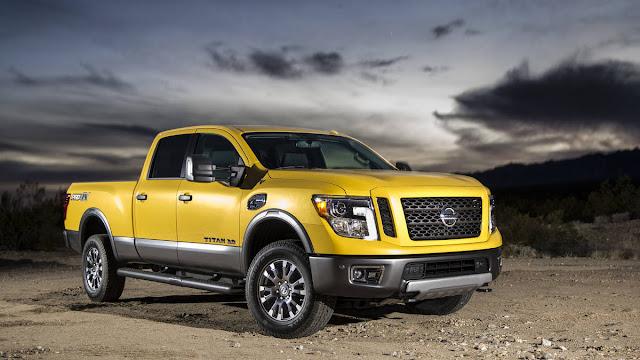 new Titan XD Nissan's price new Titan XD Nissan's starts at $41,485,  fron view